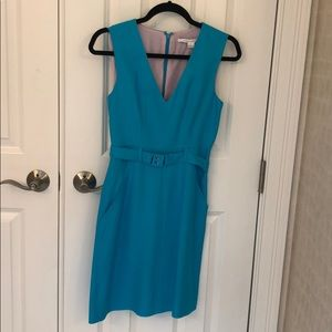 Gorgeous aqua Diane Von Furstenberg cocktail dress